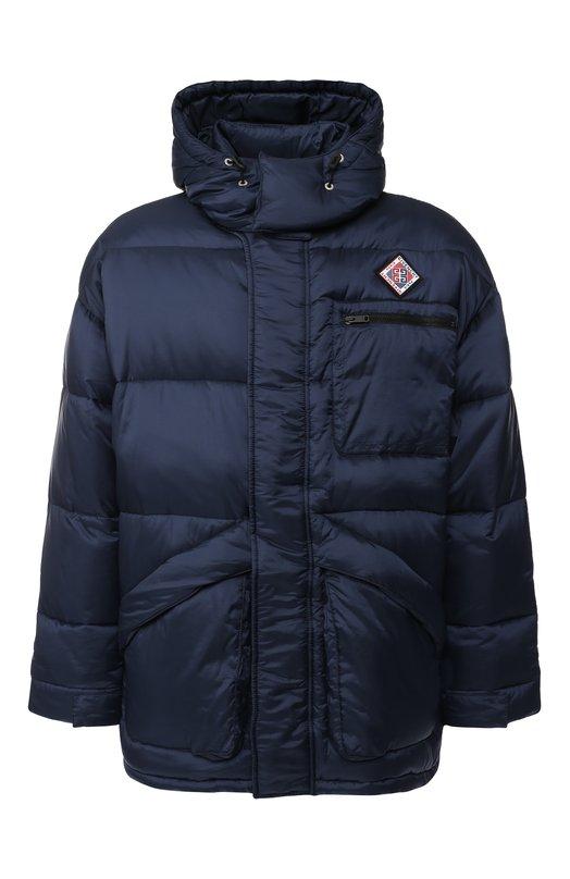 Купить Пуховая куртка на молнии с капюшоном Givenchy, BM006F1165, Тунис, Темно-синий, Полиамид: 100%; Подкладка-вискоза: 100%;