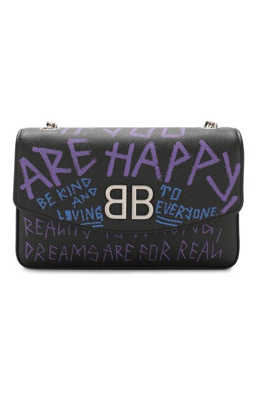 Купить Сумка BB Graffiti Balenciaga, 526682/00TBN, Италия, Черный, Кожа натуральная: 100%;