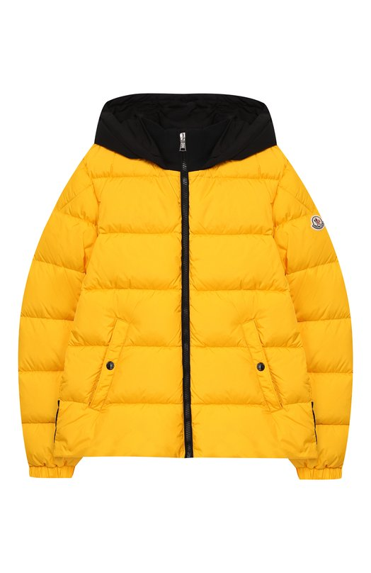 Купить Куртка на молнии с капюшоном Moncler Enfant, D2-954-41880-85-68352/8-10A, Армения, Желтый, Полиамид: 100%; Подкладка-полиамид: 100%;
