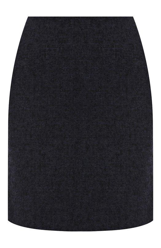 Купить Шерстяная мини-юбка на молнии Emporio Armani, 1NN37T/12109, Болгария, Темно-синий, Полиэстер: 8%; Шерсть альпака: 57%; Шерсть: 35%;