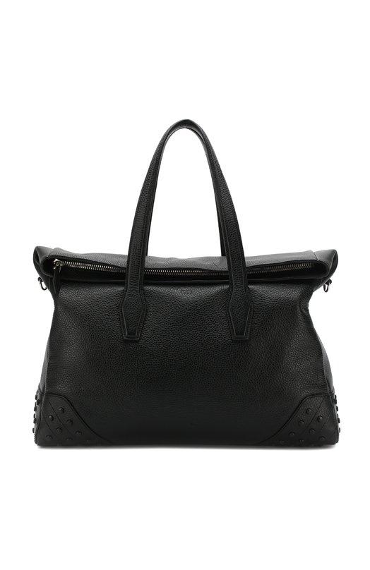 Купить Кожаная дорожная сумка с плечевым ремнем Tod's, XBMGGTM0300FFXB999, Италия, Черный, Кожа натуральная: 100%;