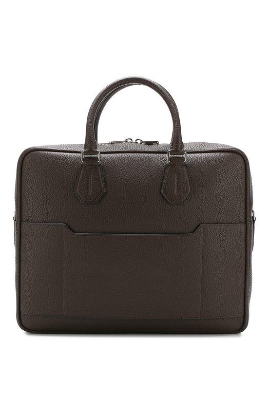 Купить Кожаная сумка City для ноутбука с плечевым ремнем Bally, C0NDRIA/81, Италия, Коричневый, Кожа: 100%;