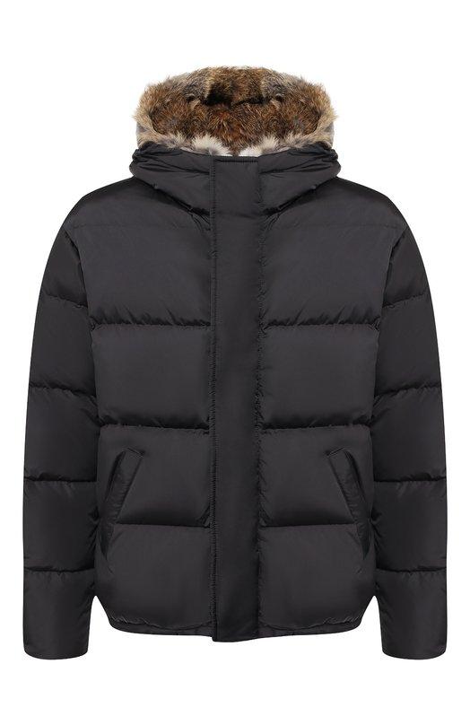 Купить Пуховая куртка на молнии с меховой отделкой капюшона Lempelius, 3000/667R, Венгрия, Темно-серый, Полиамид: 99%; Наполнитель-Гусиный пух: 90%; Подкладка-Полиамид: 100%; Наполнитель-Гусиное перо: 10%; Полиуретан: 1%;