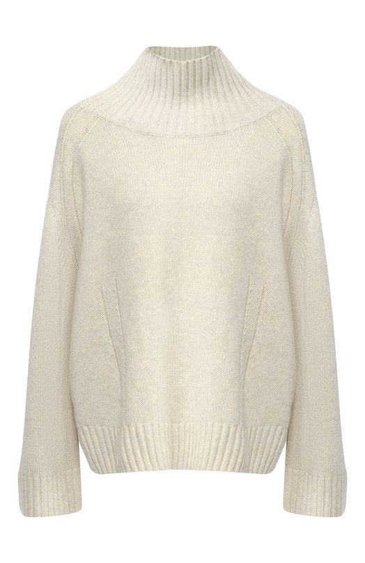 Купить Шерстяной пуловер с высоким воротником By Malene Birger, Q65757001/ALEYA, Китай, Светло-бежевый, Шерсть: 80%; Полиамид: 20%;