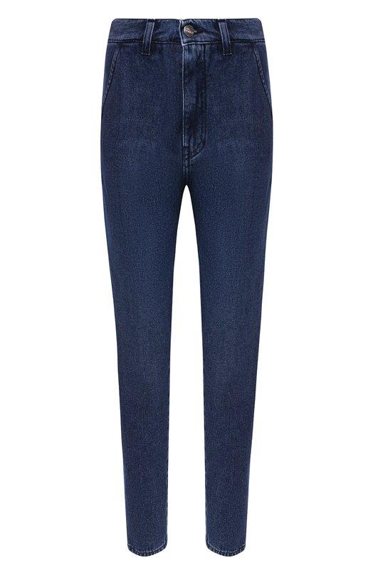 Купить Укороченные джинсы с потертостями Two Women In The World, EVITA/THMW1, Италия, Синий, Хлопок: 100%;
