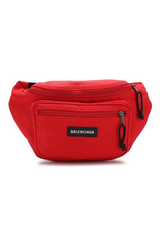 Купить Текстильная поясная сумка Explorer Balenciaga, 482389/9TY45, Италия, Красный, Полиамид: 100%;