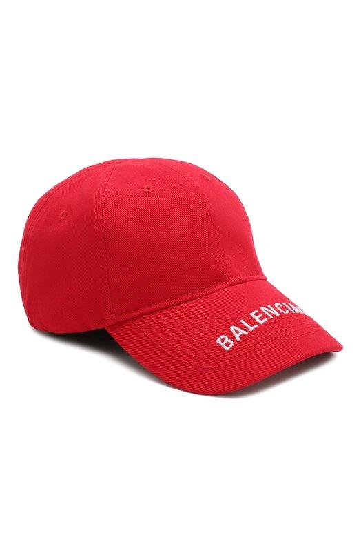 Купить Хлопковая бейсболка с логотипом бренда Balenciaga, 531588/410B7, Италия, Красный, Хлопок: 100%;