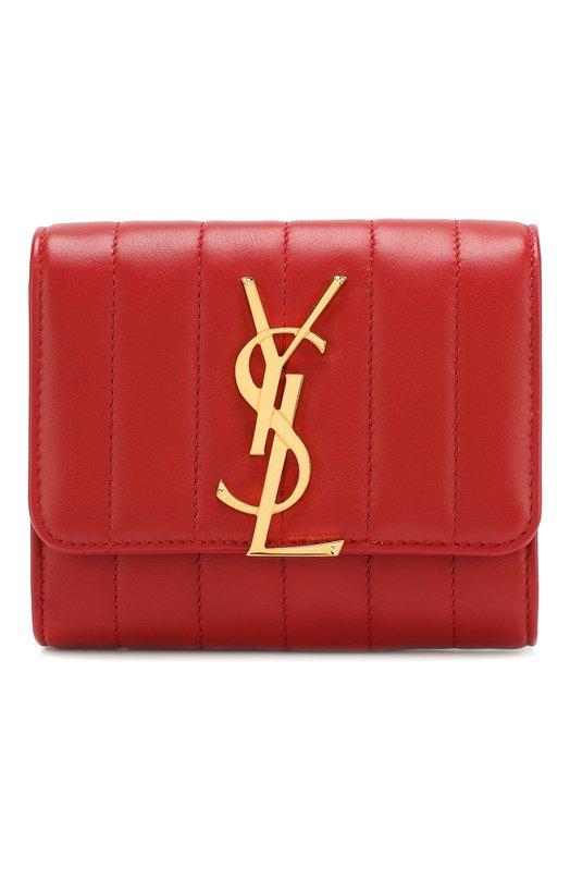 Купить Кожаный кошелек Vicky Saint Laurent, 539976/0YD01, Италия, Красный, Кожа натуральная: 100%;