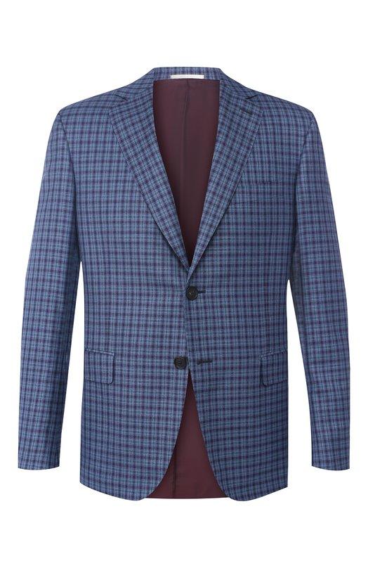 Купить Однобортный пиджак из смеси шерсти и шелка и льна Pal Zileri, N32X022-2--41931, Италия, Темно-синий, Шерсть: 50%; Шелк: 40%; Лен: 10%;