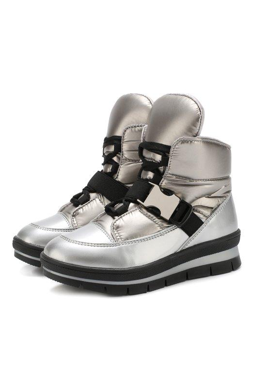 Купить Утепленные текстильные ботинки на шнуровке Jog Dog, 14052R/ZAFFIR0BALTIC0/29-31, Румыния, Серебряный, Подошва-резина: 100%; Текстиль: 100%; Подкладка-текстиль: 100%;