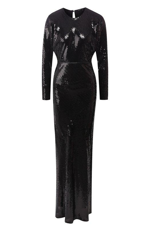 Купить Платье-макси с пайетками Alexander Terekhov, DE660/8917.999/W19, Россия, Черный, Полиэстер: 100%; Подкладка-шелк: 100%;