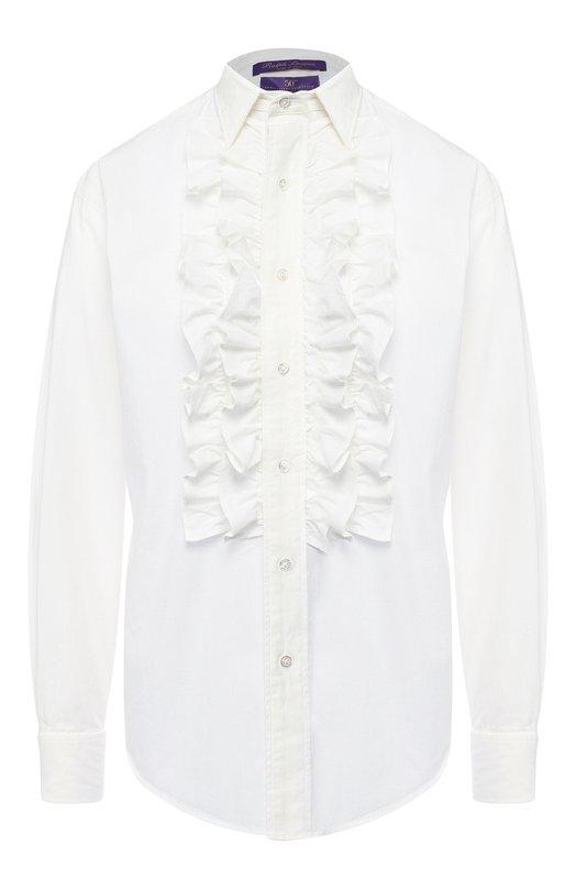 Однотонная хлопковая блуза Ralph Lauren, 290726807, Италия, Белый, Хлопок: 100%;  - купить