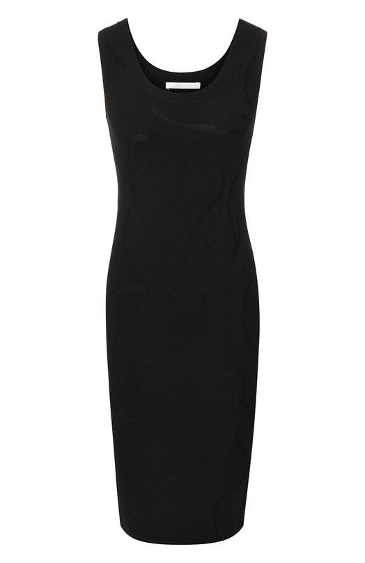 Купить Приталенное платье без рукавов Helmut Lang, I06HW709, Китай, Черный, Вискоза: 65%; Полиамид: 35%;