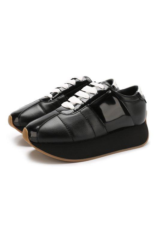 Кожаные кроссовки Big Foot на платформе Marni