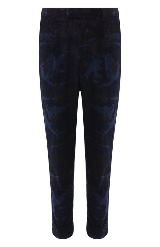 Купить Хлопковые брюки прямого кроя Moncler, D2-091-11012-40-549UR, Румыния, Темно-синий, Хлопок: 100%;