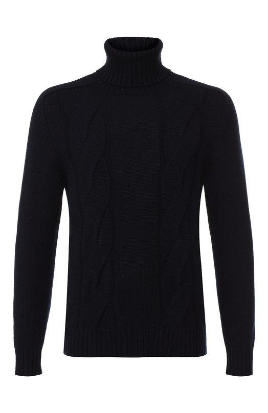 Купить Кашемировый свитер с воротником-стойкой Paul&Shark, I18P1068, Италия, Темно-синий, Кашемир: 100%;