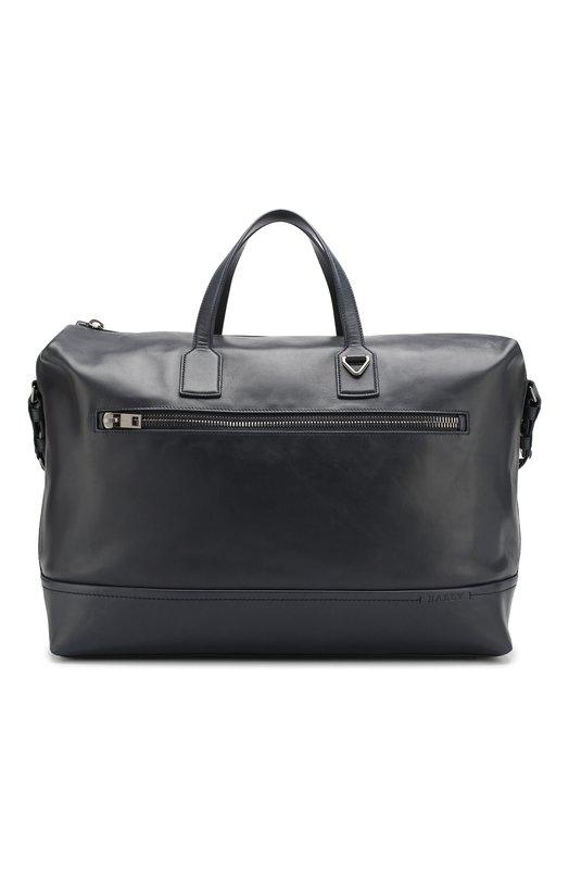 Купить Кожаная дорожная сумка Tammi с плечевым ремнем Bally, TAMMI XL/387, Китай, Темно-синий, Кожа: 100%;