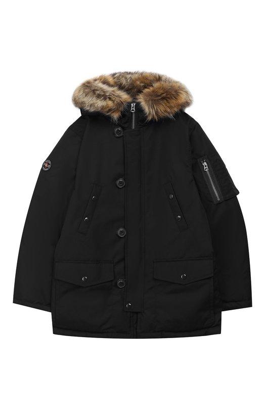 Купить Куртка на молнии с капюшоном Polo Ralph Lauren, 323703262, Китай, Черный, Полиэстер: 100%; Подкладка-текстиль: 100%;