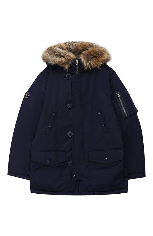 Купить Куртка на молнии с капюшоном Polo Ralph Lauren, 322703262, Китай, Темно-синий, Полиэстер: 100%; Подкладка-текстиль: 100%;
