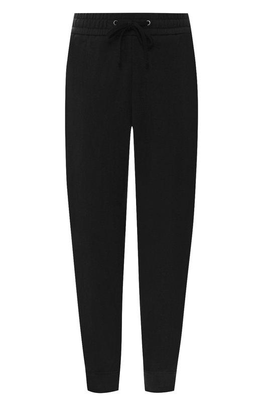 Купить Укороченные хлопковые брюки с поясом на кулиске James Perse, WDBC1814, Китай, Черный, Хлопок: 100%;
