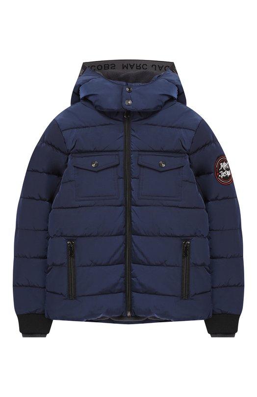 Купить Куртка на молнии с капюшоном Marc Jacobs, W26084/6A-12A, Китай, Синий, Полиамид: 100%; Подкладка-полиэстер: 100%;