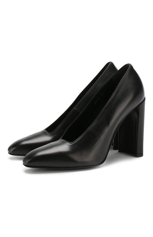 Купить Кожаные туфли на устойчивом каблуке Premiata, M5023/VITELL0 AGNELLAT0, Италия, Черный, Подошва-кожа: 80%; Подошва-резина: 20%; Подкладка-кожа: 100%; Кожа: 100%; Низ-кожа: 100%;