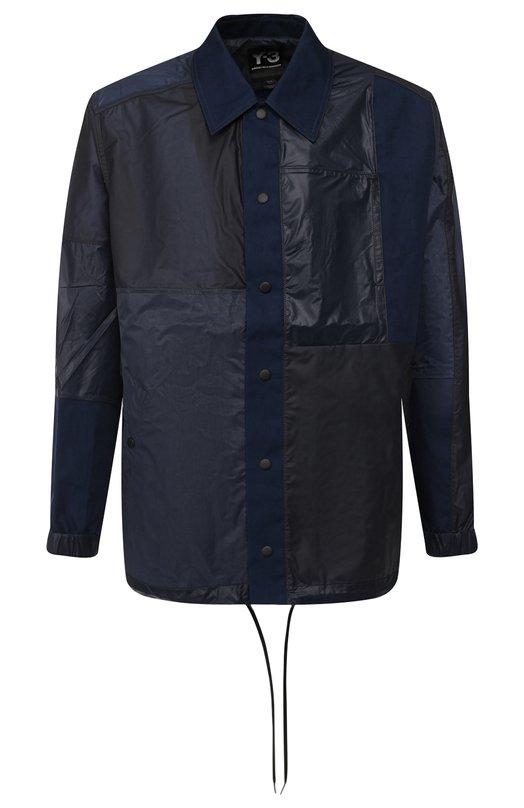 Купить Куртка на кнопках с отложным воротником Y-3, DP0530/M, Китай, Темно-синий, Полиамид: 100%; Подкладка-Текстиль: 100%;