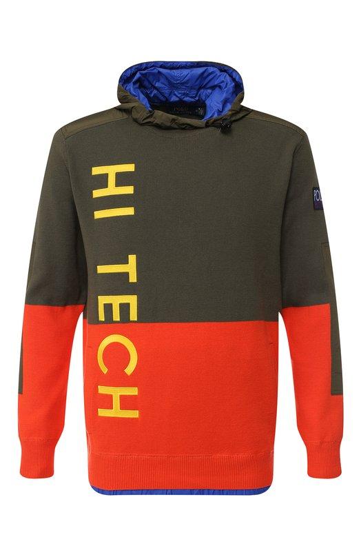 Купить Хлопковое худи с вышивкой Polo Ralph Lauren, 710716830, Китай, Хаки, Хлопок: 100%;