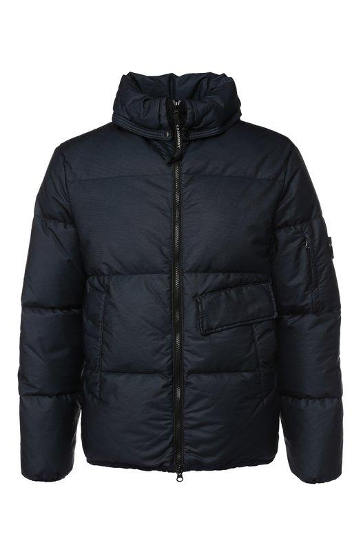 Купить Пуховая куртка на молнии с капюшоном C.P. Company, 05CM0W032A-005166G, Китай, Темно-синий, Наполнитель-Утиный пух: 90%; Полиамид: 100%; Подкладка-Текстиль: 100%; Наполнитель-Утиное перо: 10%;