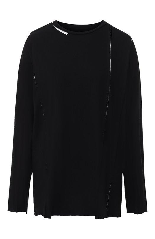 Хлопковый пуловер с круглым вырезом Yohji Yamamoto