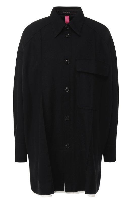 Купить Шерстяной кардиган с накладным карманом Yohji Yamamoto, YV-B41-133, Япония, Черный, Шерсть: 90%; Полиамид: 10%;