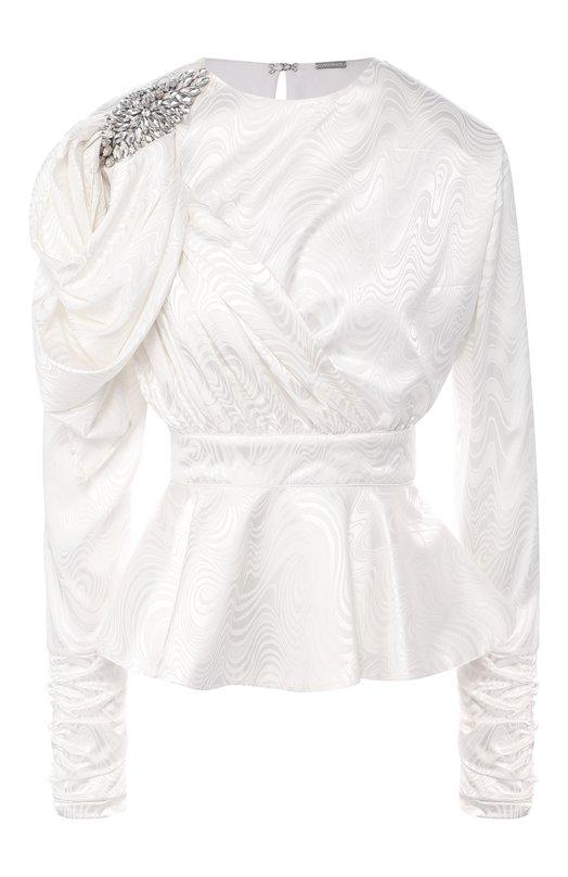 Купить Приталенная блуза с декоративной отделкой Dodo Bar Or, DB0604A, Индия, Белый, Полиэстер: 97%; Эластан: 3%;
