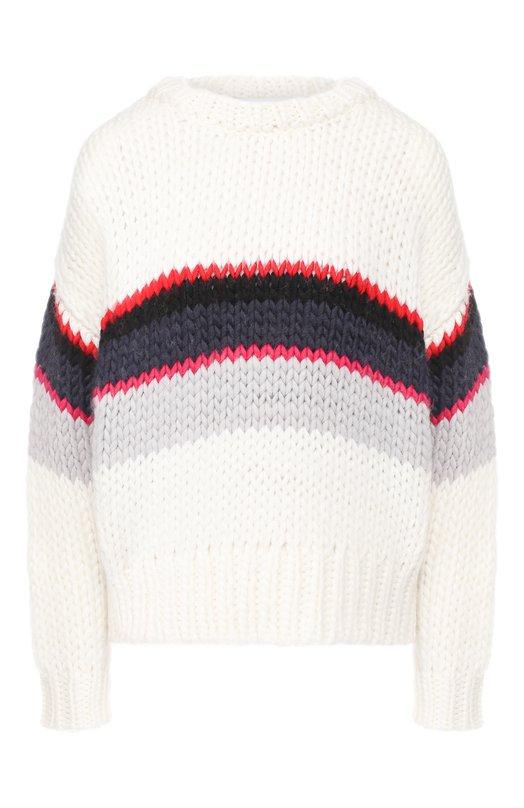 Купить Вязаный пуловер с круглым вырезом Iro, 18WWM12VERILA, Китай, Разноцветный, Шерсть: 60%; Полиамид: 40%;