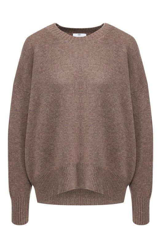 Купить Кашемировый пуловер с круглым вырезом Allude, 185/11163, Китай, Коричневый, Кашемир: 100%;