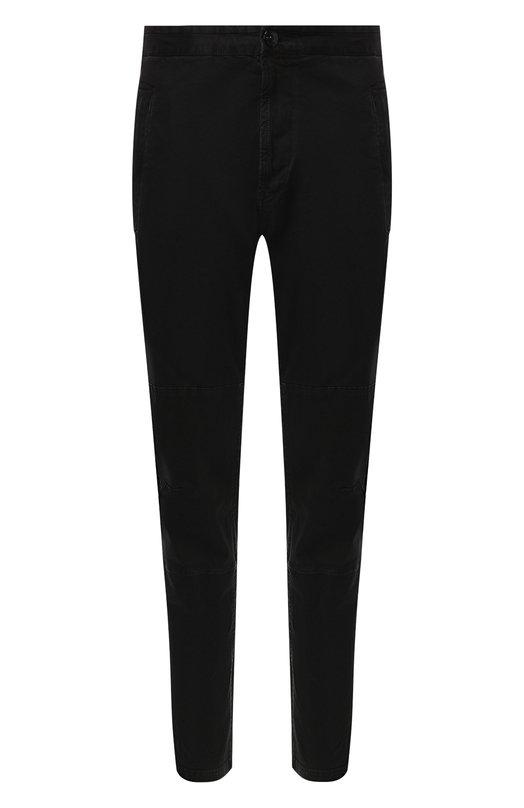 Купить Хлопковые брюки прямого кроя Stone Island, 6915304WI, Тунис, Черный, Хлопок: 96%; Эластан: 4%;
