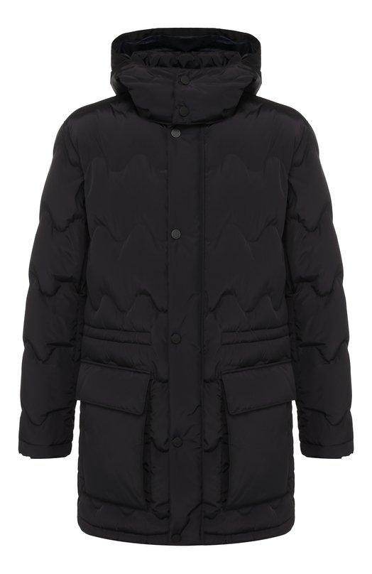 Купить Пуховая куртка на молнии с капюшоном Z Zegna, VR020/ZZ150, Китай, Темно-синий, Наполнитель-Гусиный пух: 90%; Полиэстер: 100%; Подкладка-Полиамид: 100%; Наполнитель-Гусиное перо: 10%;