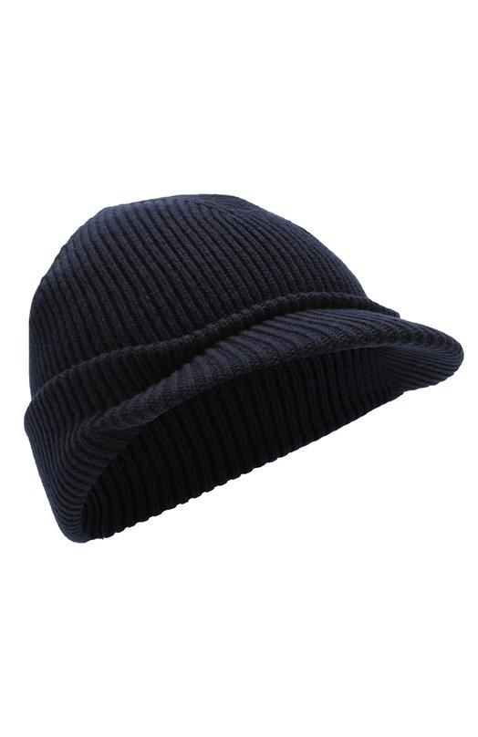 Купить Шерстяная шапка с козырьком Inverni, 4224CM, Италия, Темно-синий, Шерсть: 100%;