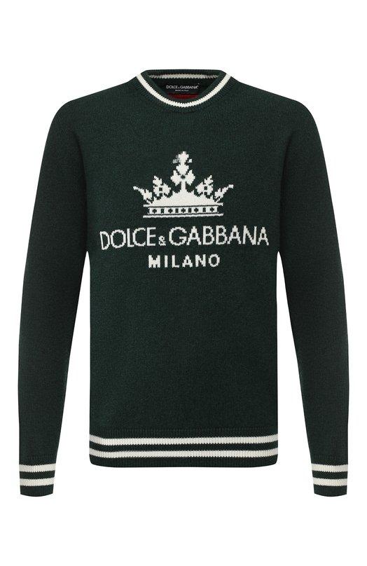 Кашемировый джемпер с логотипом бренда Dolce & Gabbana