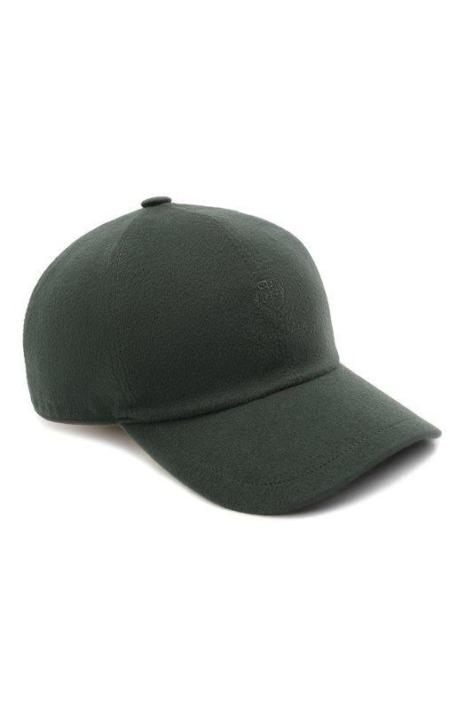Купить Кашемировая бейсболка Loro Piana, FAF8520, Италия, Темно-зеленый, Подкладка-шерсть: 90%; Кашемир: 100%; Подкладка-кашемир: 10%;