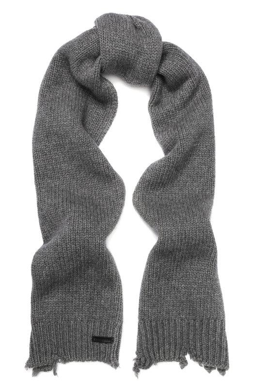 Купить Шерстяной шарф Dsquared2, KNM0021 01W00001, Италия, Серый, Шерсть: 100%;