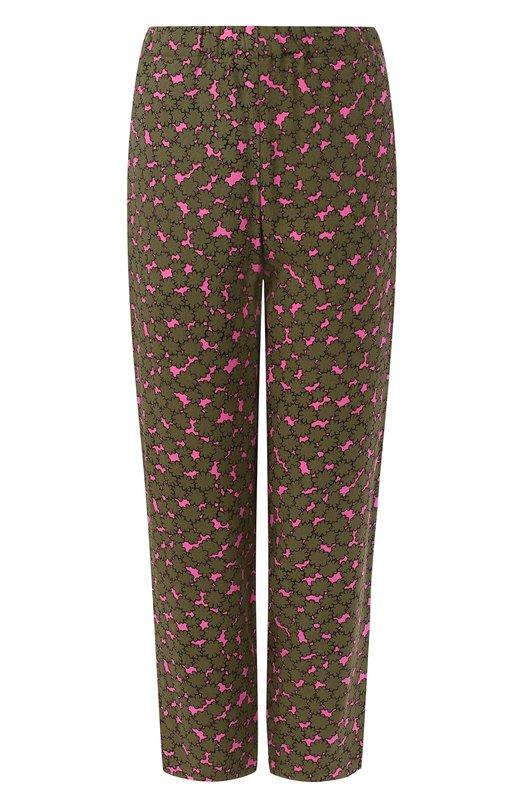 Купить Укороченные брюки с эластичным поясом Marni, PAMA014A00/TV664, Италия, Хаки, Вискоза: 100%;
