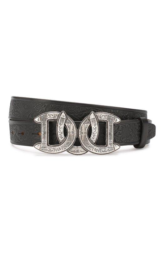Купить Кожаный ремень с металлической пряжкой Dsquared2, BEM0128 31100001, Италия, Черный, Кожа: 100%;