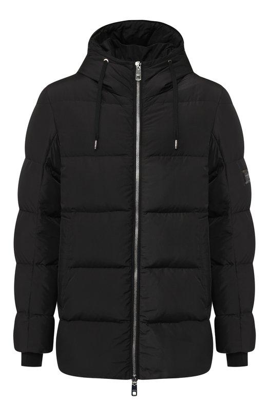Купить Пуховая куртка на молнии с капюшоном Dolce & Gabbana, G9M08T/FUMQ7, Италия, Черный, Наполнитель-Гусиный пух: 80%; Наполнитель-Утиное перо: 20%; Полиэстер: 100%; Подкладка-Полиэстер: 100%;