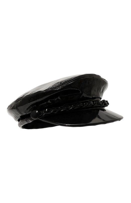 Купить Лакированное кепи с декоративной цепью Eugenia Kim, 29104-20518E, США, Черный, Кожа натуральная: 100%;