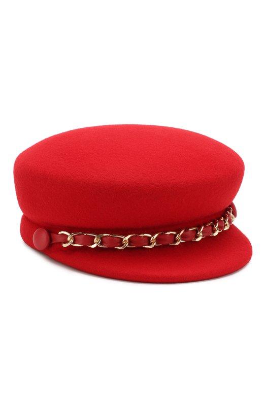 Купить Фетровое кепи с декоративной цепью Eugenia Kim, 28206-14518, США, Красный, Фетр/овчина/: 100%;
