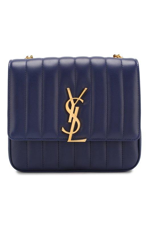 Купить Сумка Vicky medium Saint Laurent, 532612/0YD0J, Италия, Темно-синий, Кожа натуральная: 100%;