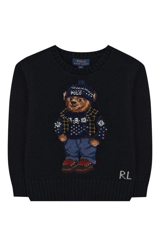 Хлопковый пуловер с принтом Polo Ralph Lauren