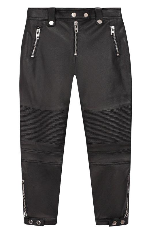 Купить H14030/6A-12A, Кожаные брюки с отделкой Givenchy, Болгария, Черный, Кожа: 100%;, Женский, Брюки