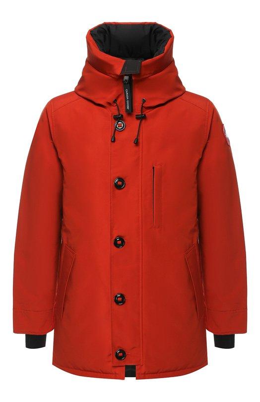 Купить Пуховая куртка Chateau на молнии с капюшоном Canada Goose, 3426MNF, Канада, Оранжевый, Полиэстер: 84%; Хлопок: 16%; Подкладка-Полиамид: 100%; Отделка капюшона-Мех/койот/: 100%; Наполнитель-Гусиный пух: 100%;