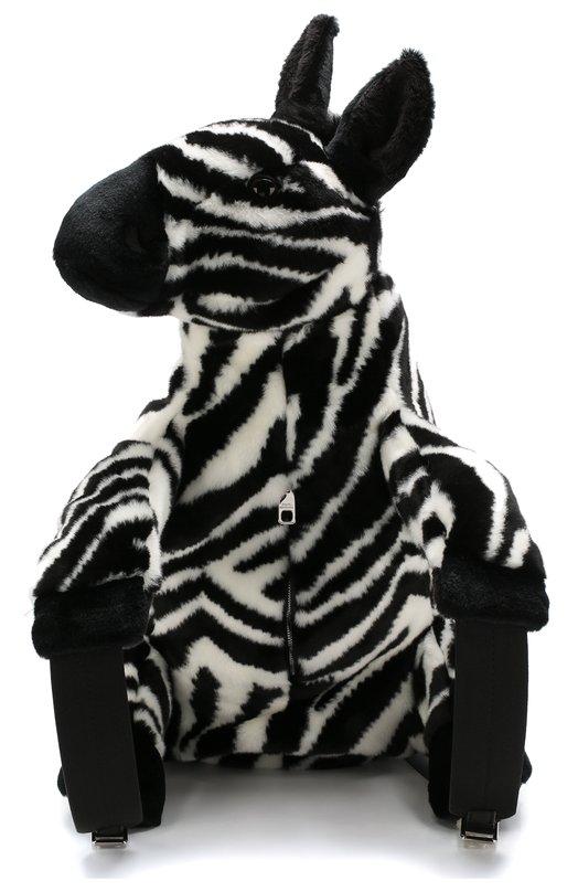 Купить Рюкзак Vulcano Zebra Dolce & Gabbana, BB6606/AV019, Италия, Черно-белый, Акрил: 70%; Полипропилен: 5%; Кожа: 5%; Полиамид: 10%; Полиэстер: 10%;